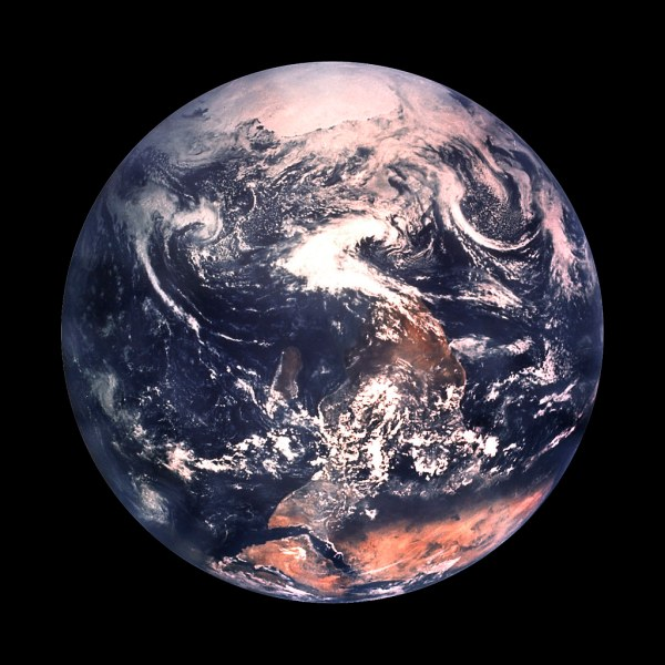 Whole Earth from Space | from public domain collections at ...