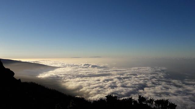 Vistas de la Isla de la Palma desde el Teide en Tenerife
