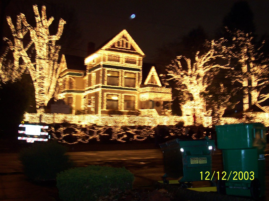 Glorious Christmas House LIghts The Queen Anne Victorian