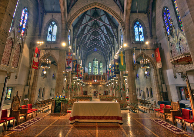 Christ Church Cathedral From Behind The Altar Looking