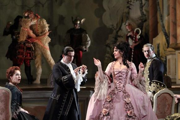 Ksenia Dudnikova Angela Gheorghiu And Brian Jagde In Adriana Lecouvreur The Royal Opera C