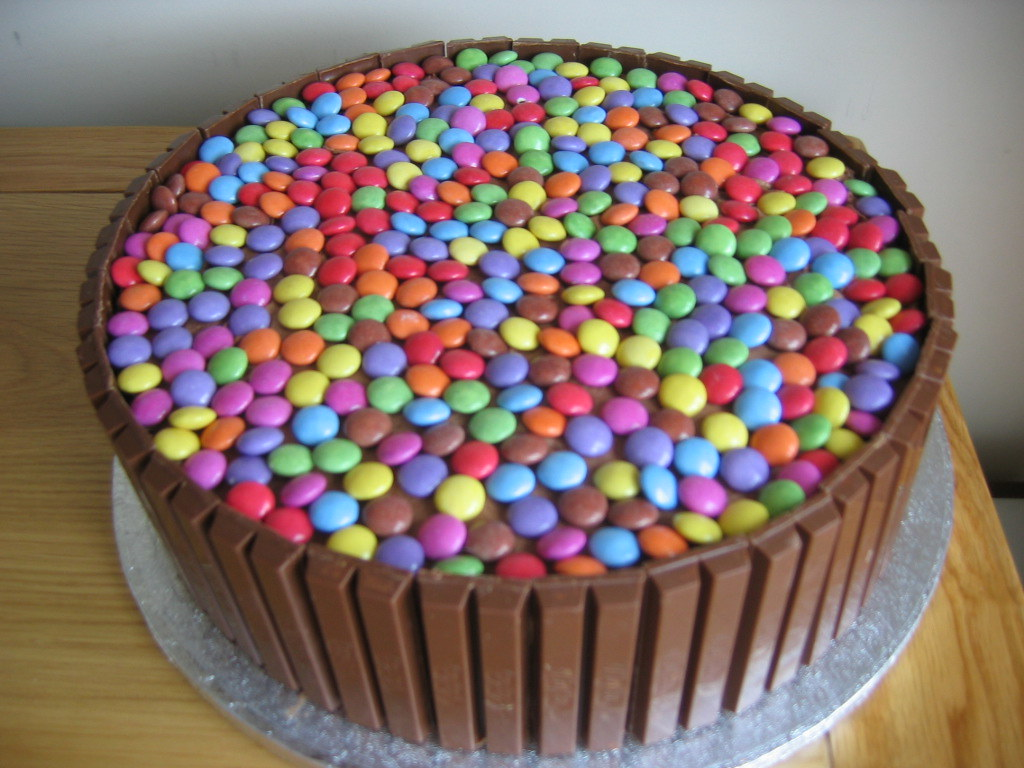 Chocolate Smartie Cake Chocolate Sponge Filled With