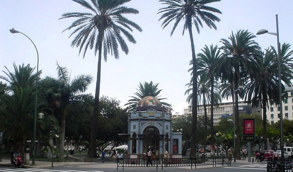 Parque San Telmo quiosco modernista barrio de Triana Las Palmas de Gran Canaria
