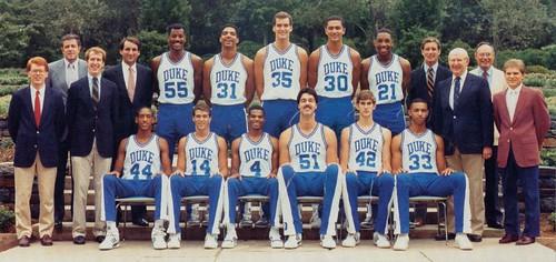 1986 1987 Basketball Team Repository Duke University