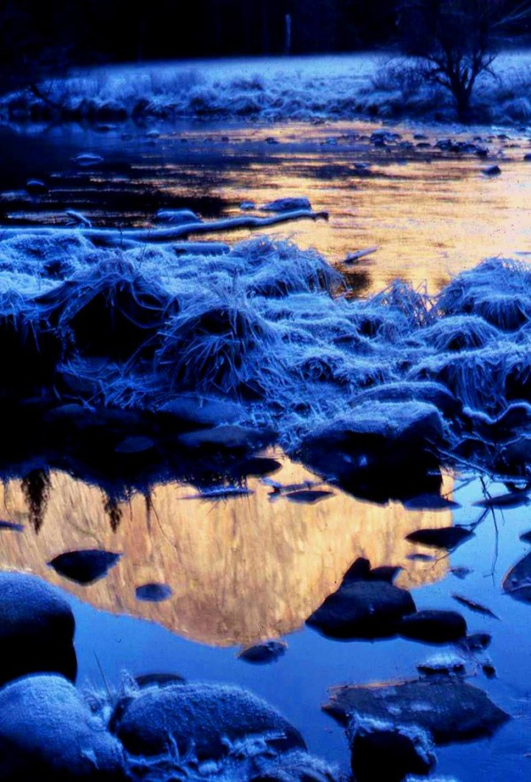 Yosemite in Winter , Frosty Evening Blue | Photo fishers ...