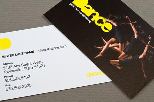 Dance Company Business Card Dance Company Business Card De Flickr