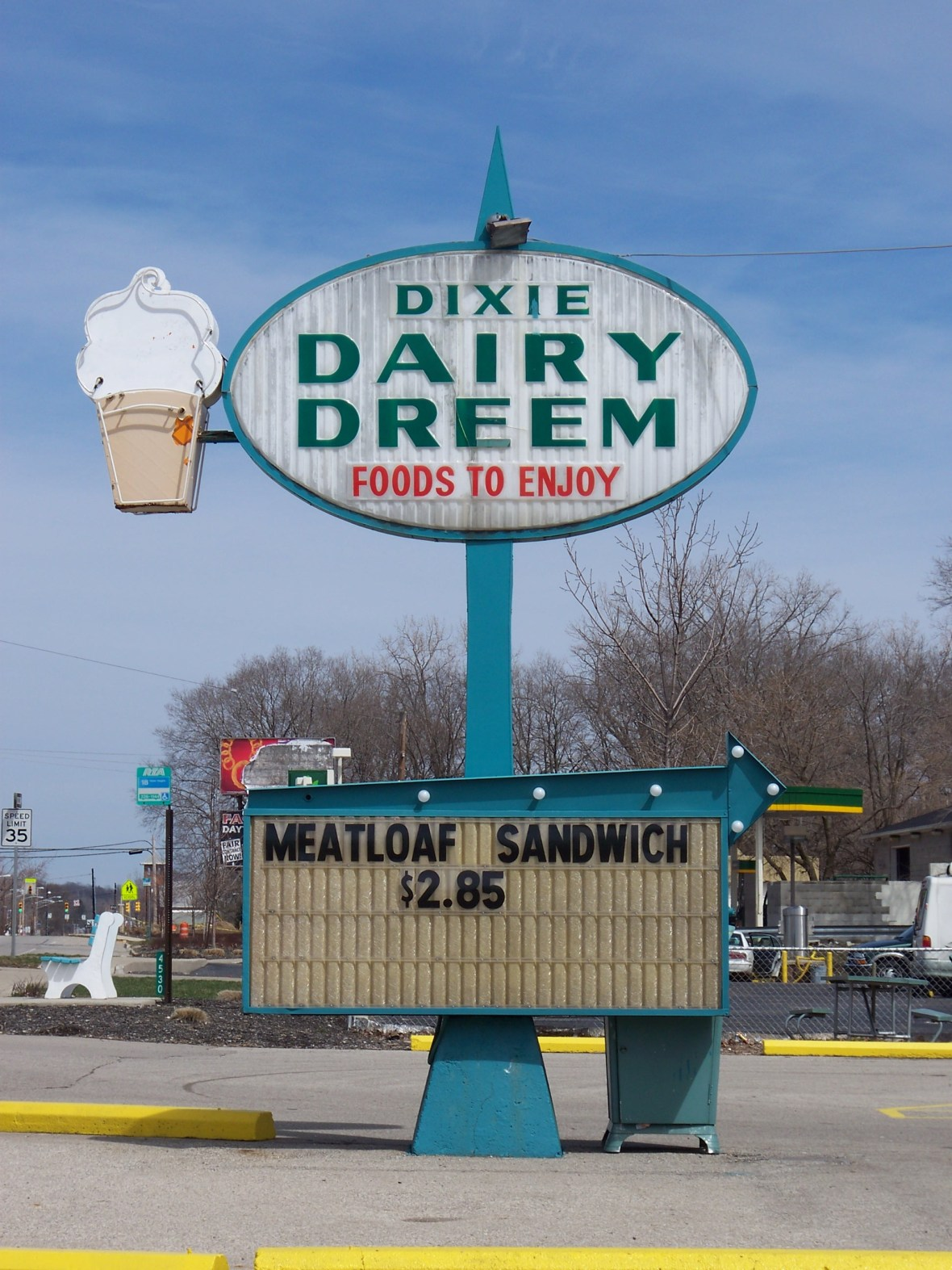 Dixie Dairy Dreem - 4542 South Dixie Drive, Dayton, Ohio U.S.A. - March 29, 2008