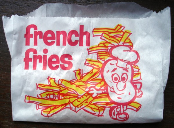 French Fries | Hey, you're a jaunty little potato. Cute ...