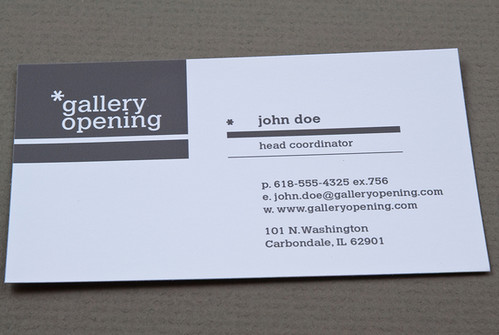 Contemporary Gallery Business Card Contemporary Gallery