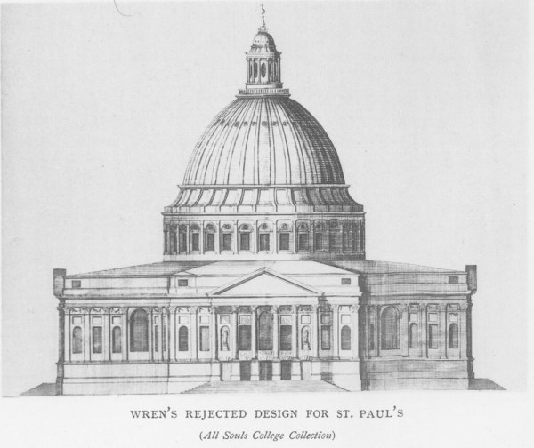 St. Paul's Cathedral: Rejected design | Other title: St ...