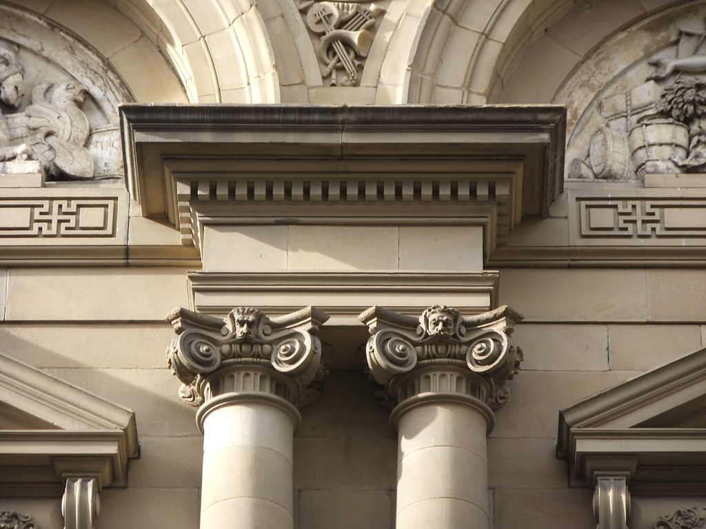 Ionic Capitals And Entablature Free Trade Hall Mancheste