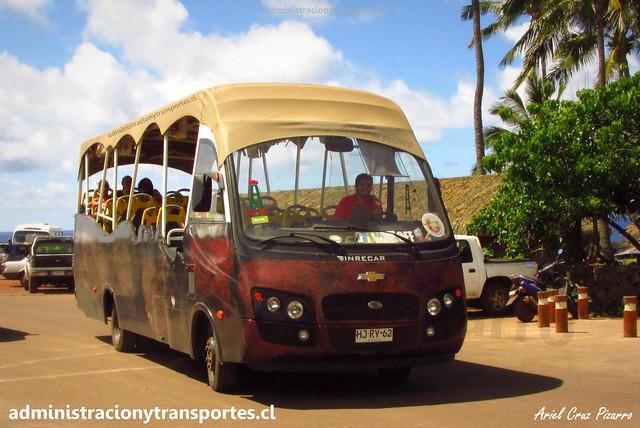 Bus Ara Moai (Turismo) | Anakena | Inrecar Géminis - Chevrolet / HJRY62