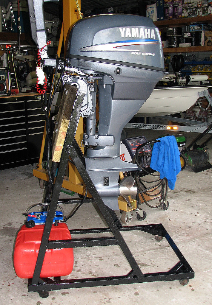 Outboard Motor Stand By K McAnly I Took A Motor Off A