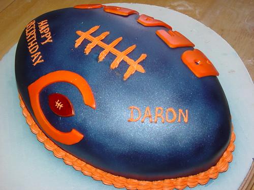 Chicago Bears Birthday Football Cake Charley Salas Sbcglob