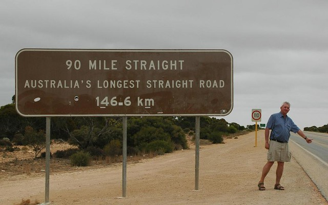 146.6 km or 90 mile of straight road | Over an hour to ...