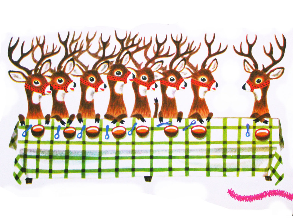 Reindeers From The Animals Merry Christmas Book Flickr