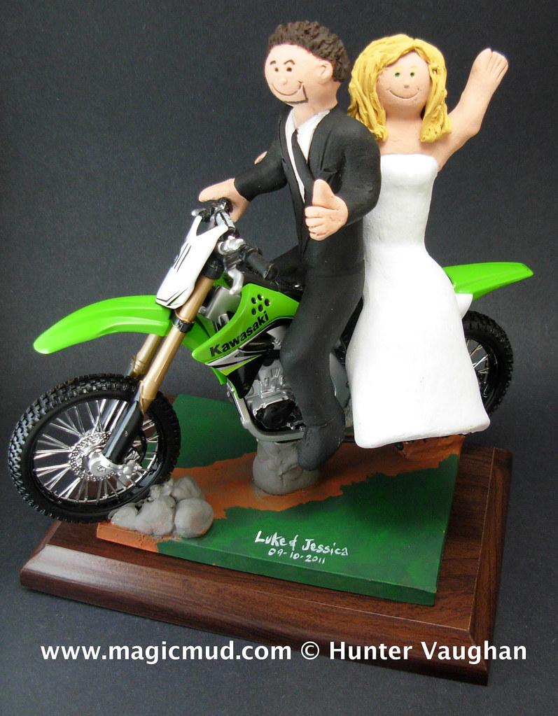 Kawasaki Dirt Bike Wedding Cake Topper Wwwfacebookcom