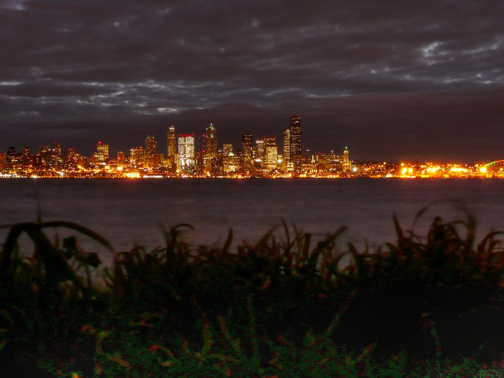 Puget Sound Just Before Dawn Seattle Washington At