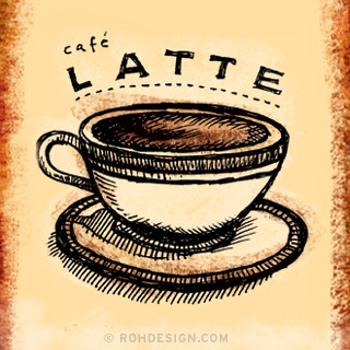 Latte 320x320 Wallpaper A 320x320 Illustration From