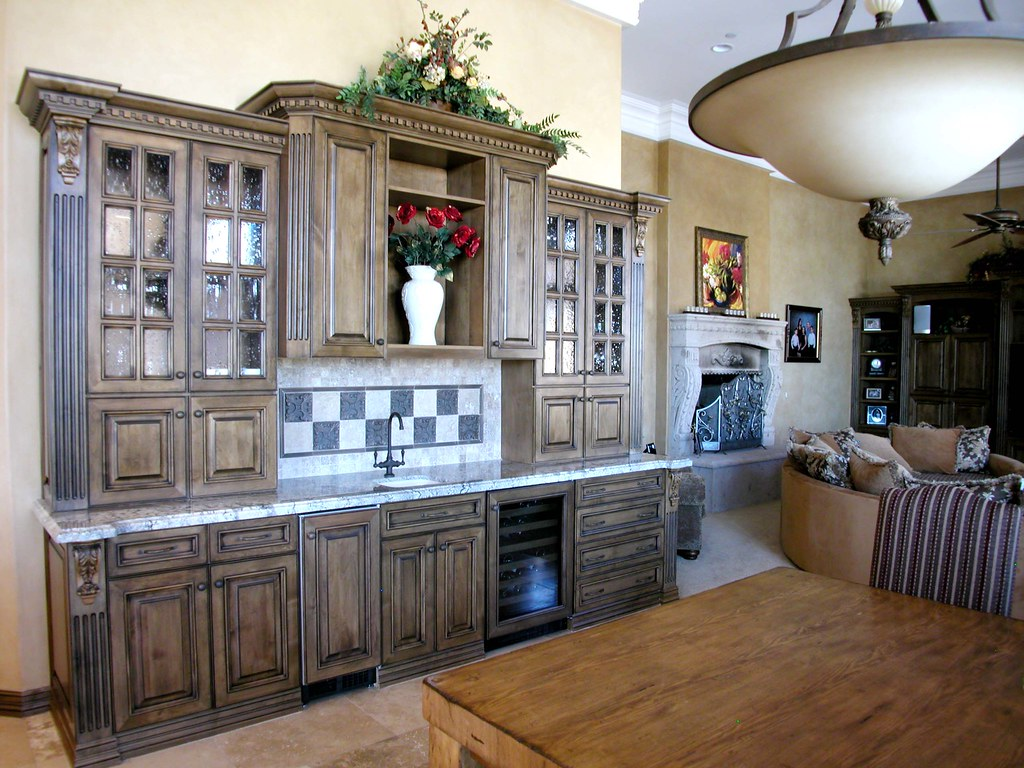 Wet Bar Part Of The Kitchen And Right Across From The