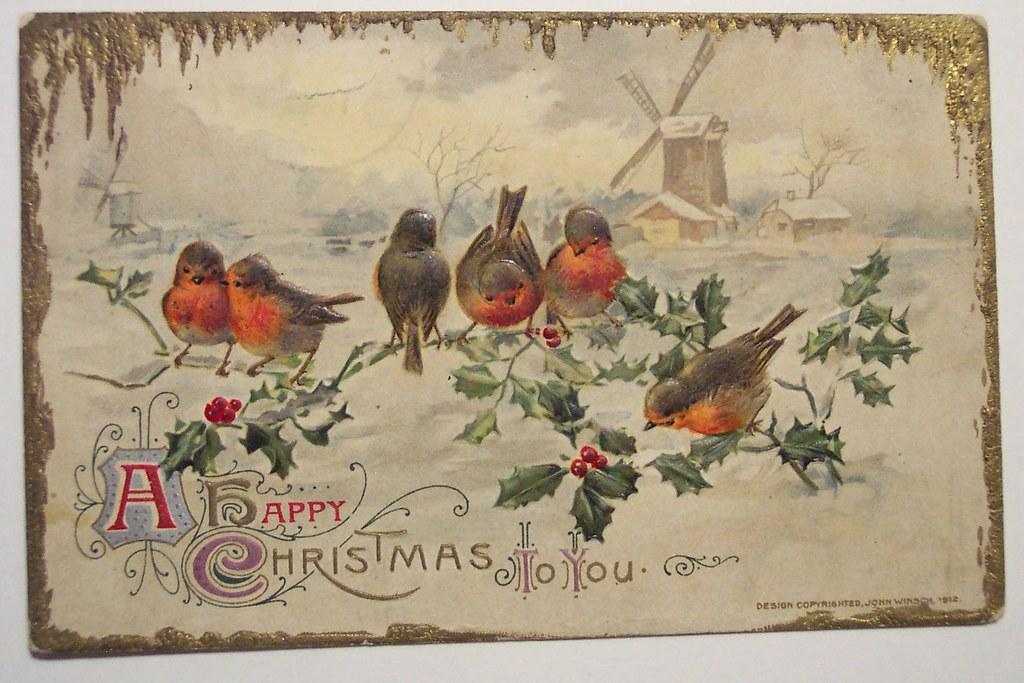 Vintage Christmas Postcard Dave Flickr