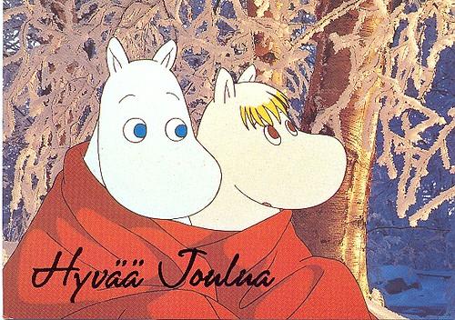 XMAS MOOMINS My First Moomin Card And Its A Christmas