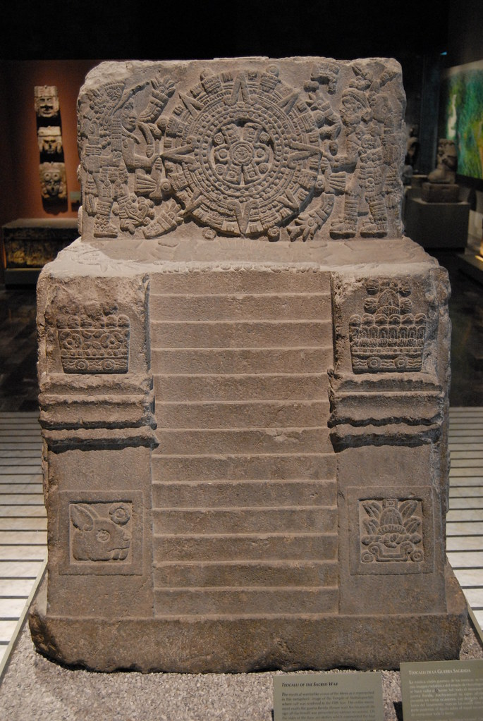 Teocalli Of Sacred Warfare This Is The Front View Of The