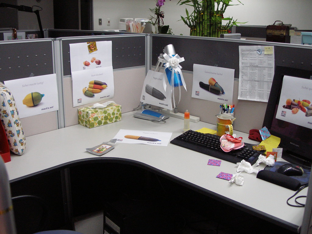 Office Prank Erics Desk For A Complete View Of The