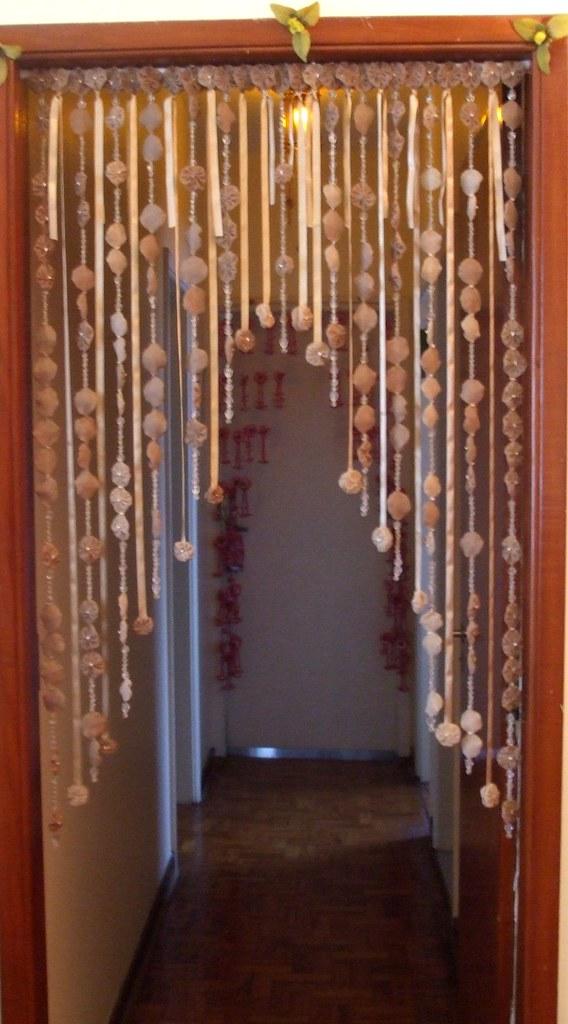 Cortina Fuxico Porta Da sala para o hall fuxico contas