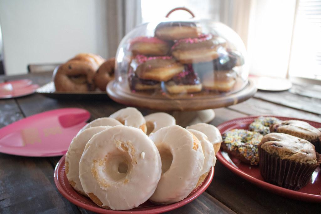 Gluten-full and Gluten-free donuts!