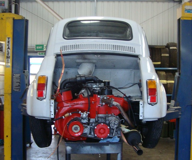 FIAT 500 UPGADED WITH 650cc ENGINE Amp SYNCHRO GEARBOX FROM