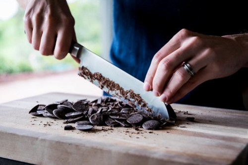 chopping the chocolate first helps it melt quicker