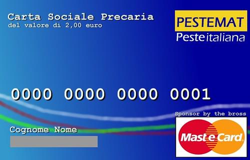 Social card precaria