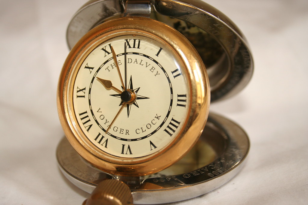 The Dalvey Voyager Clock Beautiful Travel Alarm Clock By