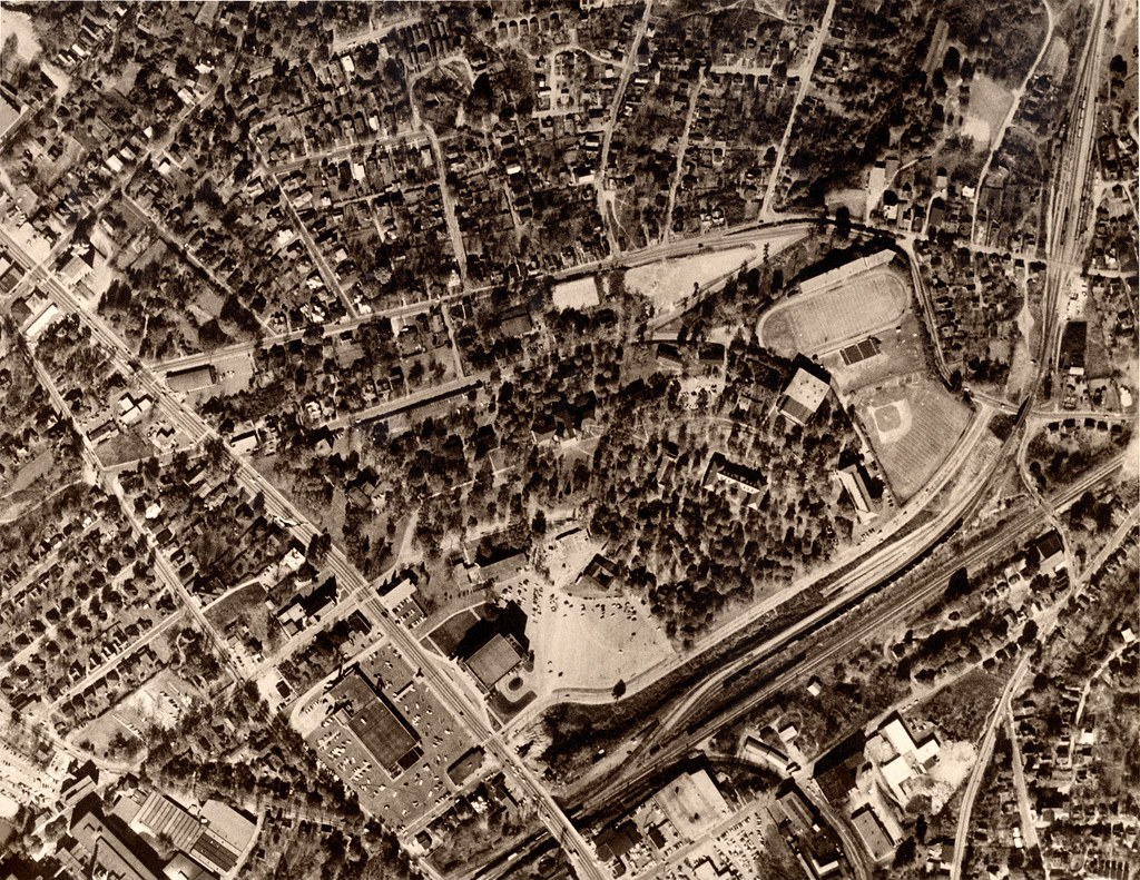 Wofford College Aerial Photo 1959 Aerial Photographs