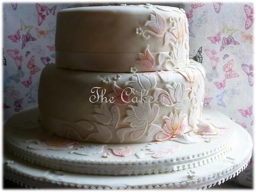 Tulip Wedding Cake My First Wedding Cake Initially I