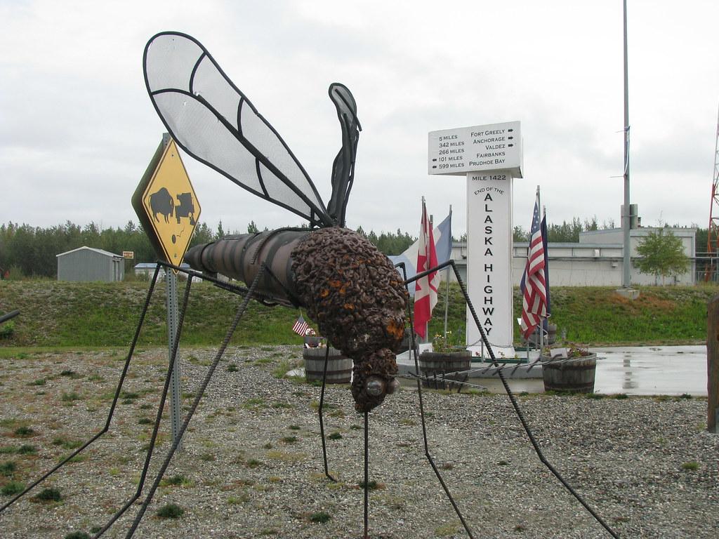 Moquito Statue At Delta Junction Alaska Moquito Statue
