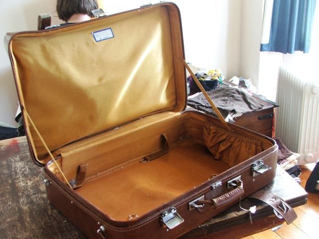 This is an open suitcase | My suitcase came with some very ...