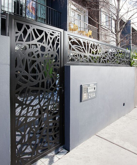 stunning modern gate design ideas 12