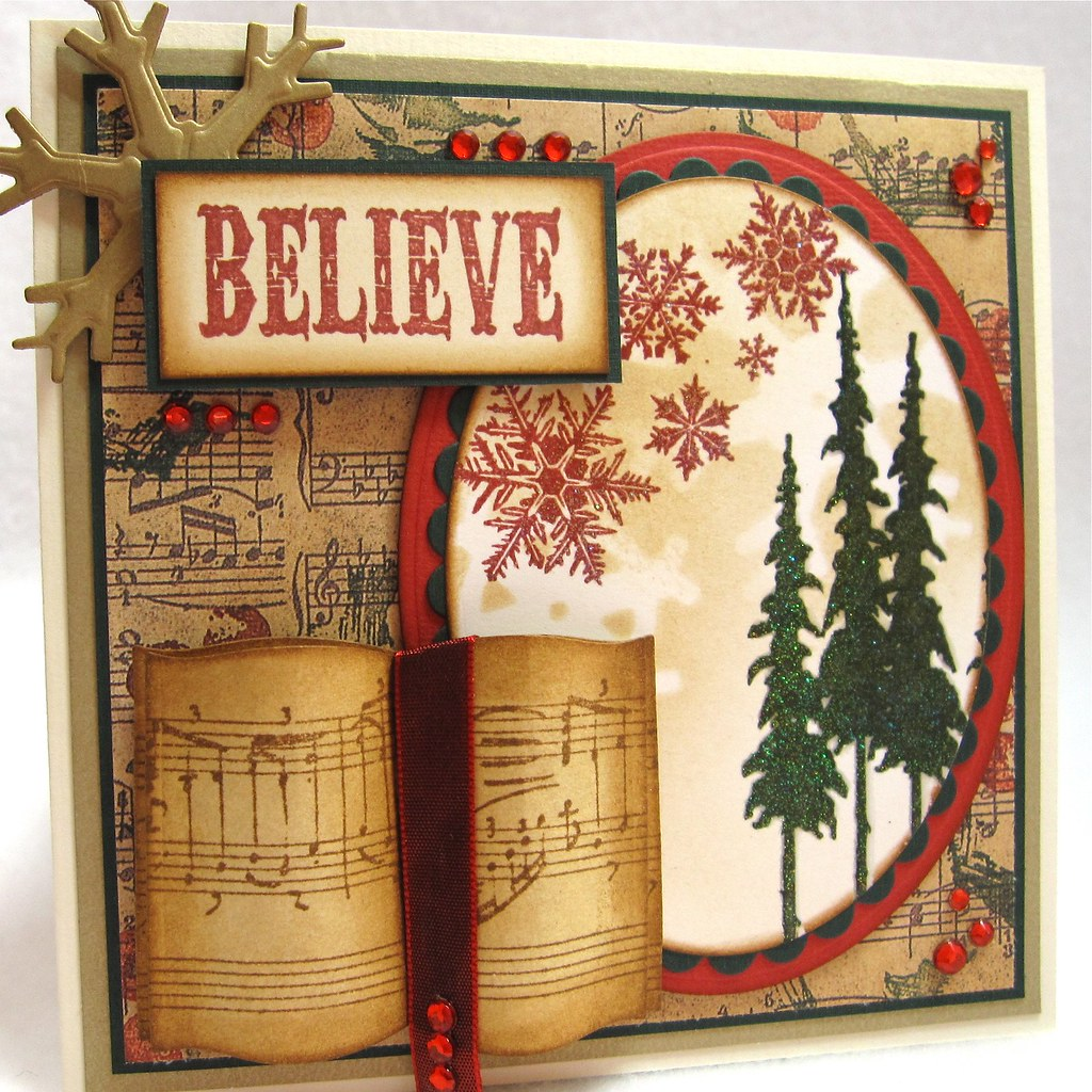 Christmas Card Ala Tim Holtz Heres My Take On A More