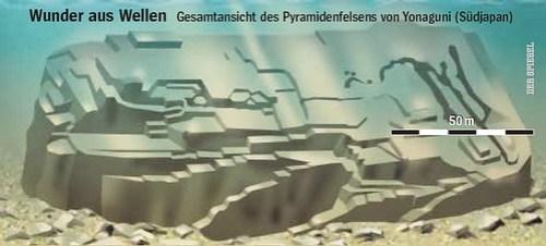 Yonaguni structure underwater sunk japan