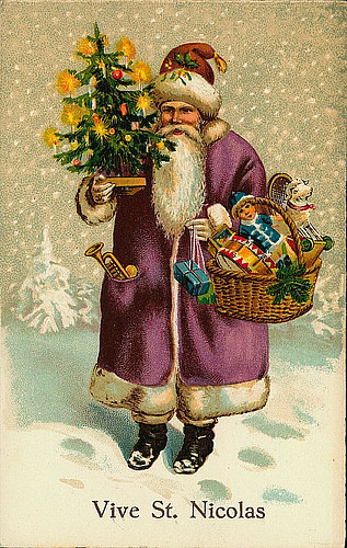 Vintage ChristmasSanta Claus Postcard Free To Use In