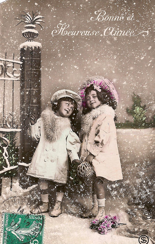 Vintage Postcards Bonne Annee 02 French Vintage