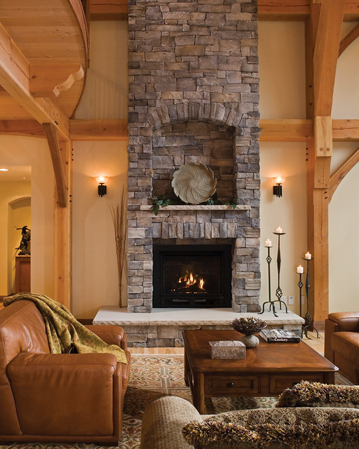 Timber Treasure Timber Frame Home Fireplace The Stately Flickr