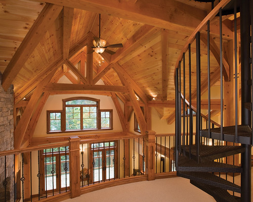 Timber Treasure Timber Frame Home Loft The View From The Flickr