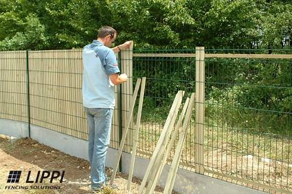panneaux pvc pour clôture jardin