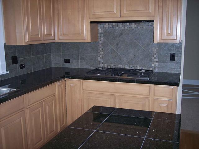 Galaxy Black Granite Counter with Backsplash | Curtis ... on What Backsplash Goes With Black Granite  id=99900
