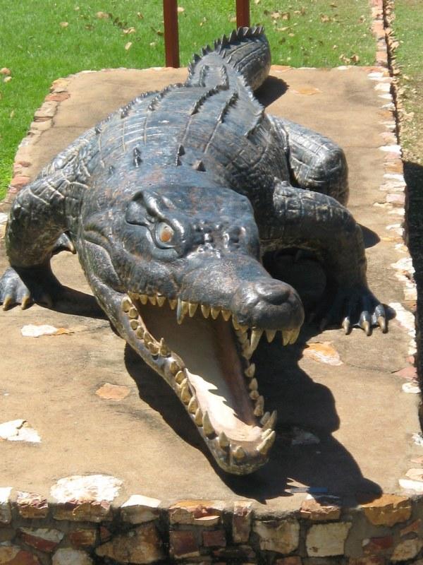 Normanton Legend Krys Krys the crocodile is a full size