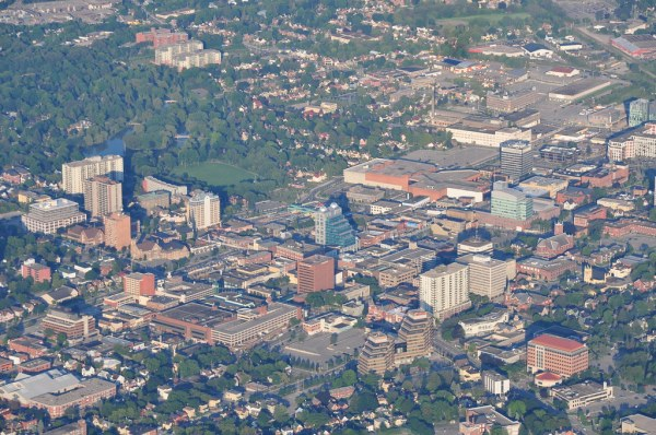 Downtown Kitchener Zoomed in so its easy to pick out