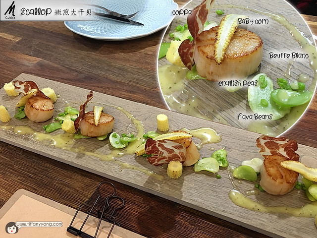 M Cuisine Home Fine Dining Taipei Scallop